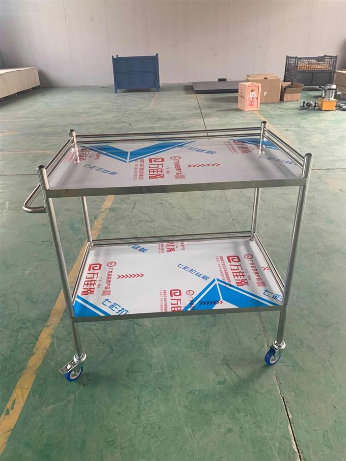 Stainless Steel Trolley Cart 2 Tier (Large)