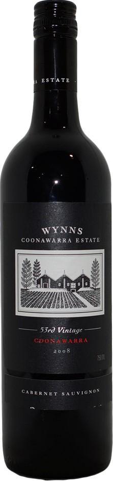 Wynns 53rd Vintage Cabernet Sauvignon 2008 (6x 750mL), SA . Screwcap.