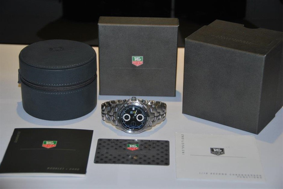 """New Authentic LINK Chronograph 1/10th Gents TAG Heuer SENNA """"Limited Ed"""""""
