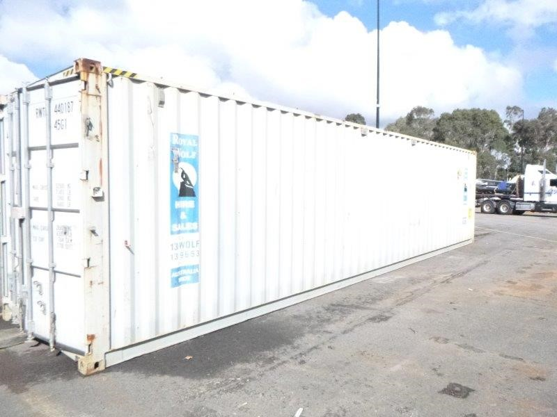 40 Foot Shipping Container Hard Wired with RCD Protection & Storage Boards