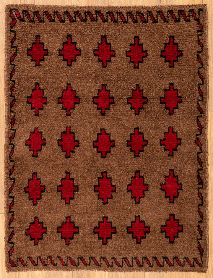 Handknotted Pure Wool Persian Baluchi Rug - Size 123cm x 93cm