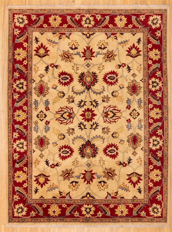 Handknotted Pure Wool Afghan Chobi Rug - Size 237cm x 180cm