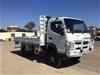 <p>2013 Mitsubishi Fuso Canter 139,491km Ex Lease 4 x 4 Tray Body Truck</p>