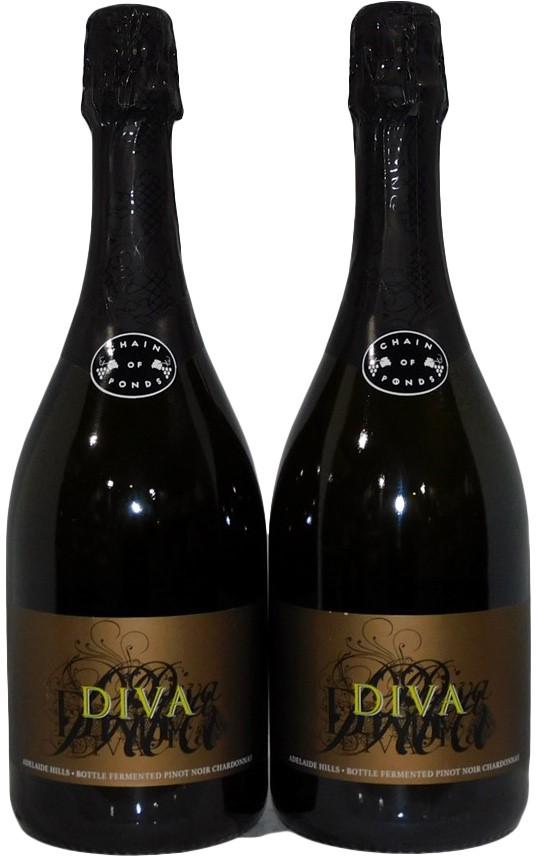 Chain Of Ponds Wines Diva Sparkling 2011 (2x 750mL), SA. 5 Star Prov. Cork.