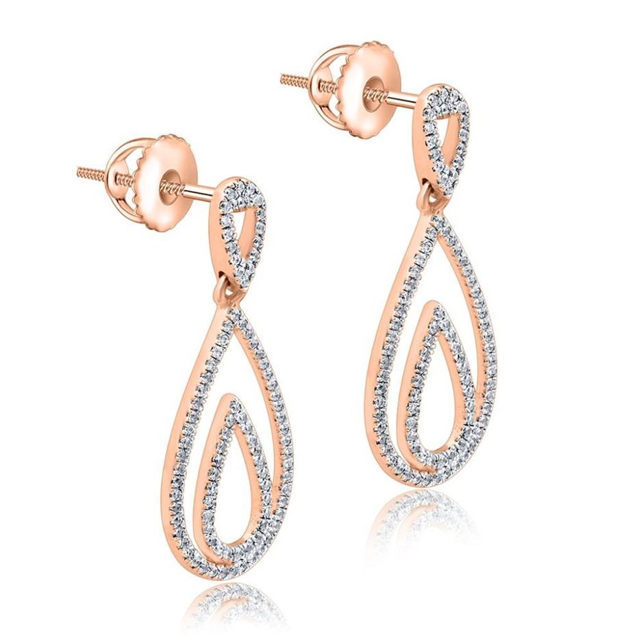 9ct Rose Gold, 0.25ct Diamond Earring