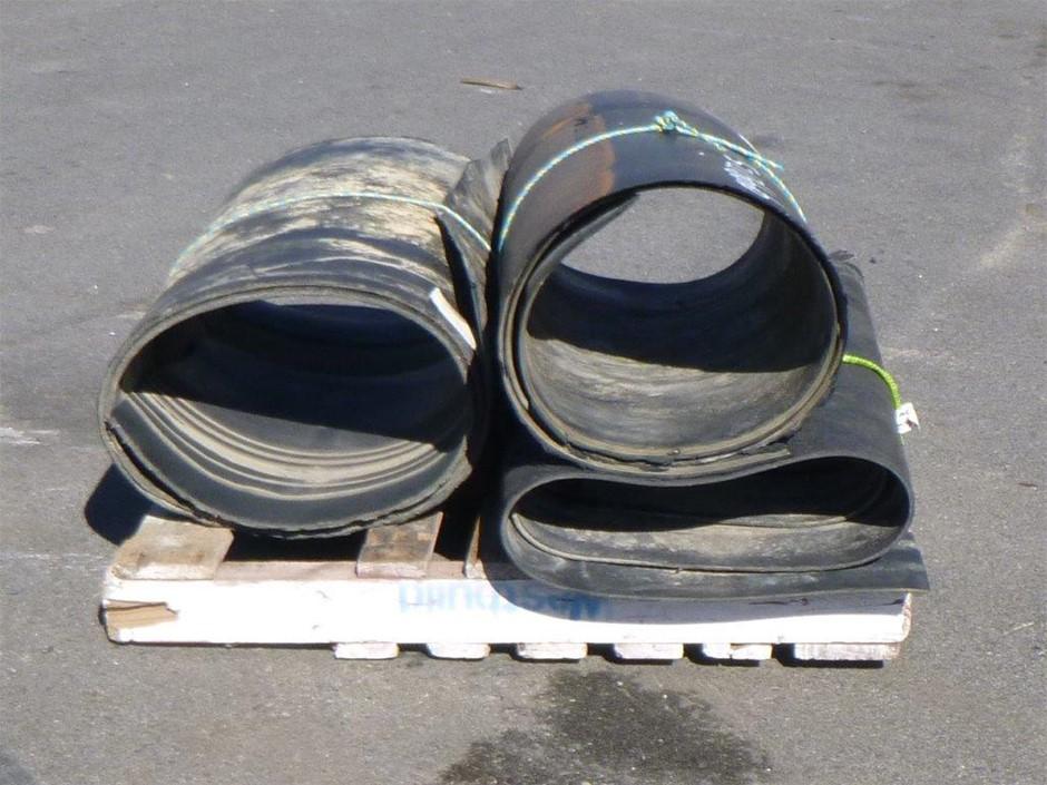 Pallet of 3 Rolls Rubber Conveyor Belts