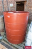 Large Open Top Round Poly Tub & Content