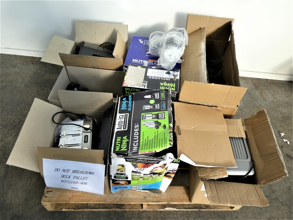 Pallet Containing ASSORTED USED & UNTESTED HOUSEHOLD APPLIANCES