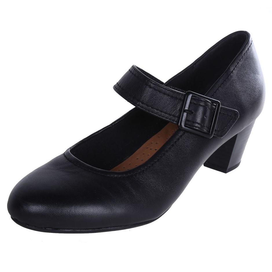 HUSH PUPPIES Women`s Domestic Cactus Heels, Size UK 6, Black. Buyers Note -