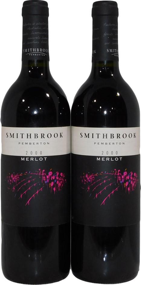 Smithbrook Pemberton Merlot 2000 (2x 750mL), WA. Cork