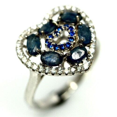 Gorgeous Genuine Sapphire Heart Ring.