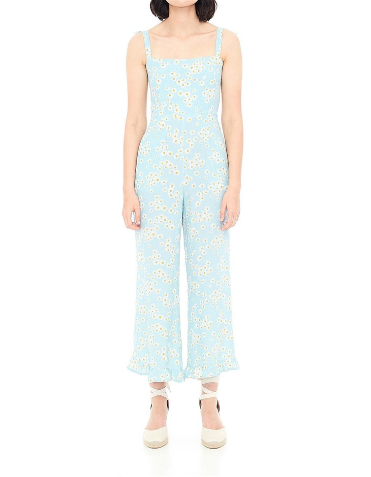 FAITHFULL THE BRAND Frankie Jumpsuit. Size L, Colour: Zhoe Floral Print. OR