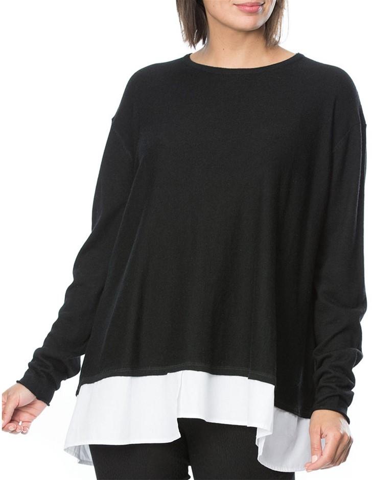 HAMMOCK AND VINE Contrast Trim Top. Size 22, Colour: Black. ORP: $149 Buyer