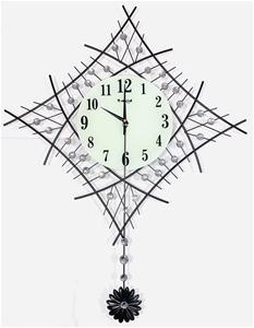Diamnte Clock with Glow in the Dark Cloc