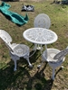 Cast iron table and chair set