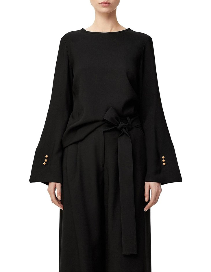 VIKTORIA & WOODS Aalto Top. Size 1, Colour: Black. ORP: $320 Buyers Note -