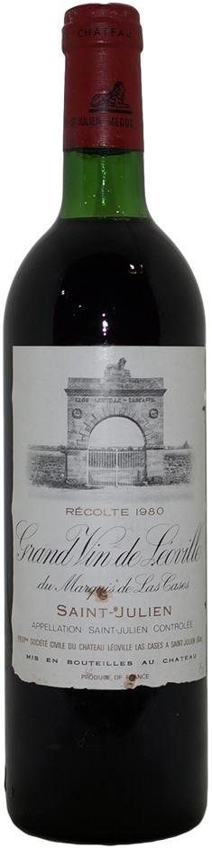 Chateau Leoville Las Cases Grand Vin Saint-Julien 1980 (1x 750mL) Bordeaux