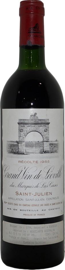 Chateau Leoville Las Cases Grand Vin Saint-Julien 1985 (1x 750mL) Bordeaux