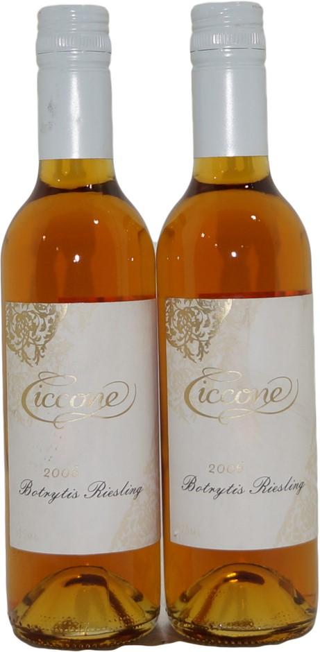 Ciccone Botrytis Riesling 2006 (2x 375mL), King Valley. Screwcap.