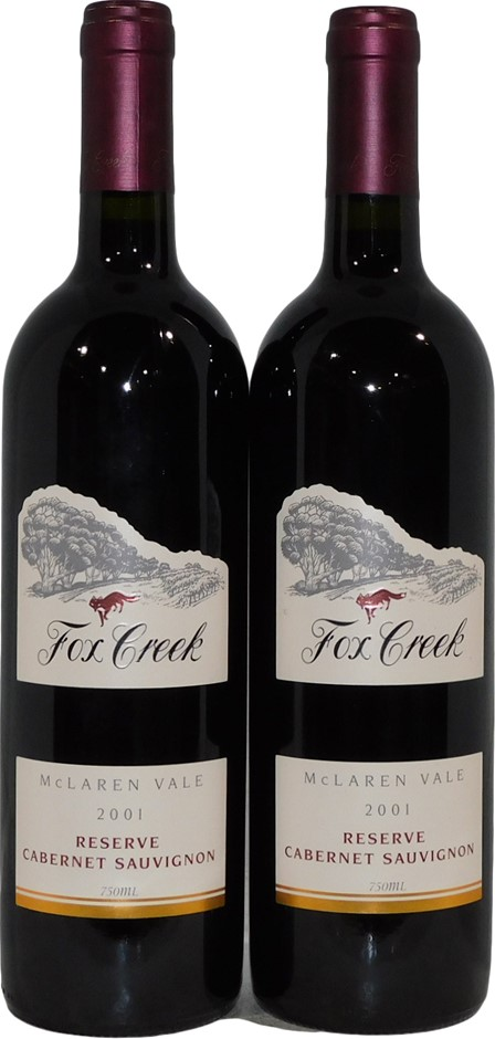 Fox Creek Wines Reserve Cabernet Sauvignon 2001 (2x 750mL), McLaren Vale