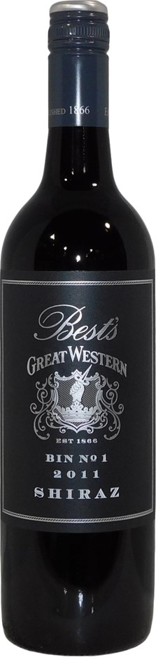 Best's Great Western Bin 1 Shiraz 2011 (6x 750mL), VIC. Screwcap