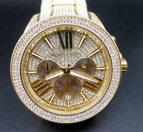 New Michael Kors 'Wren' Gold Plated gemstone stunning watch.