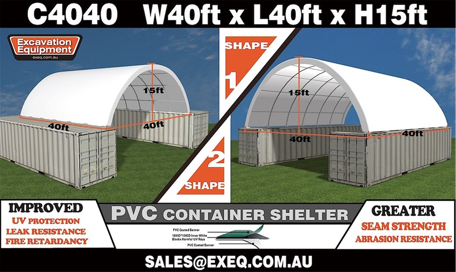 2020 Unused Heavy duty 40ft Container Shelter