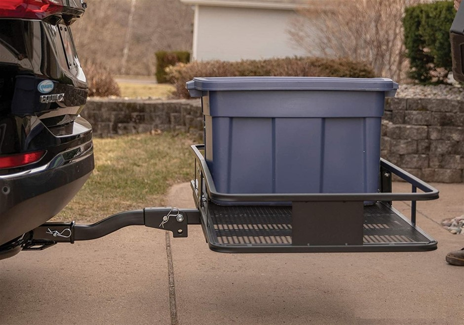 Car Luggage Basket Trailer Hitch Cargo Carrier