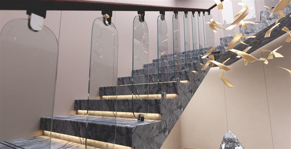Frameless Glass Stairs Balustrade Toughened Glass - Urbana