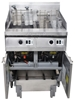 <Strong>FRYMASTER GAS DOUBLE PAN DEEP FRYER WITH OIL FILTRATION SYSTEM, QUA