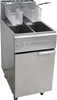 <Strong>GOLDSTEIN GAS SPLIT PAN DEEP FRYER, QUALITY COMMERCIAL KITCHEN EQUI