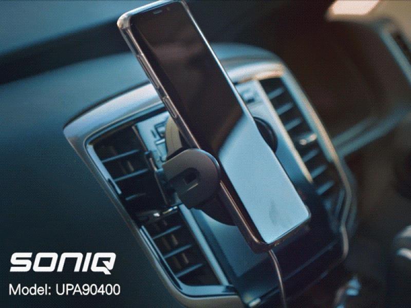 SONIQ Qi Compatible 10W Automatic Se nsor Car Wireless Charger (UPA90400)