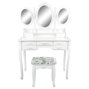 3 Mirrors 7 Drawers Dressing Table - JUL