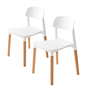 2X Belloch Stackable Dining Chair - WHIT