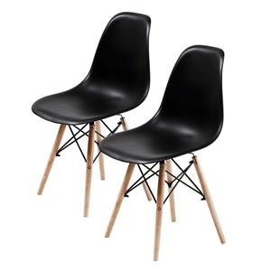 2X DSW Dining Chair - BLACK