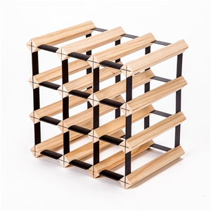 12 Bottle Timber Wine Rack