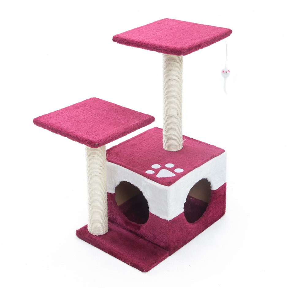 69cm Cat Tree Scratcher MONO - RED