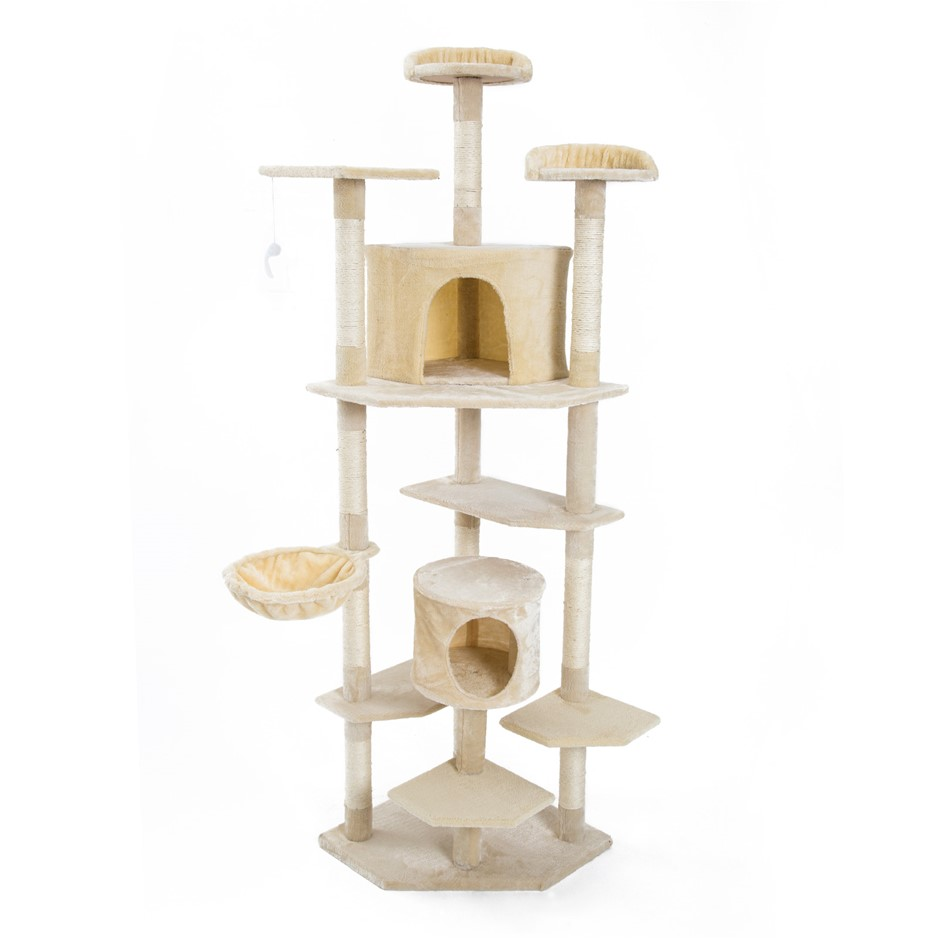 201cm Cat Tree Scratcher PARALA - BEIGE