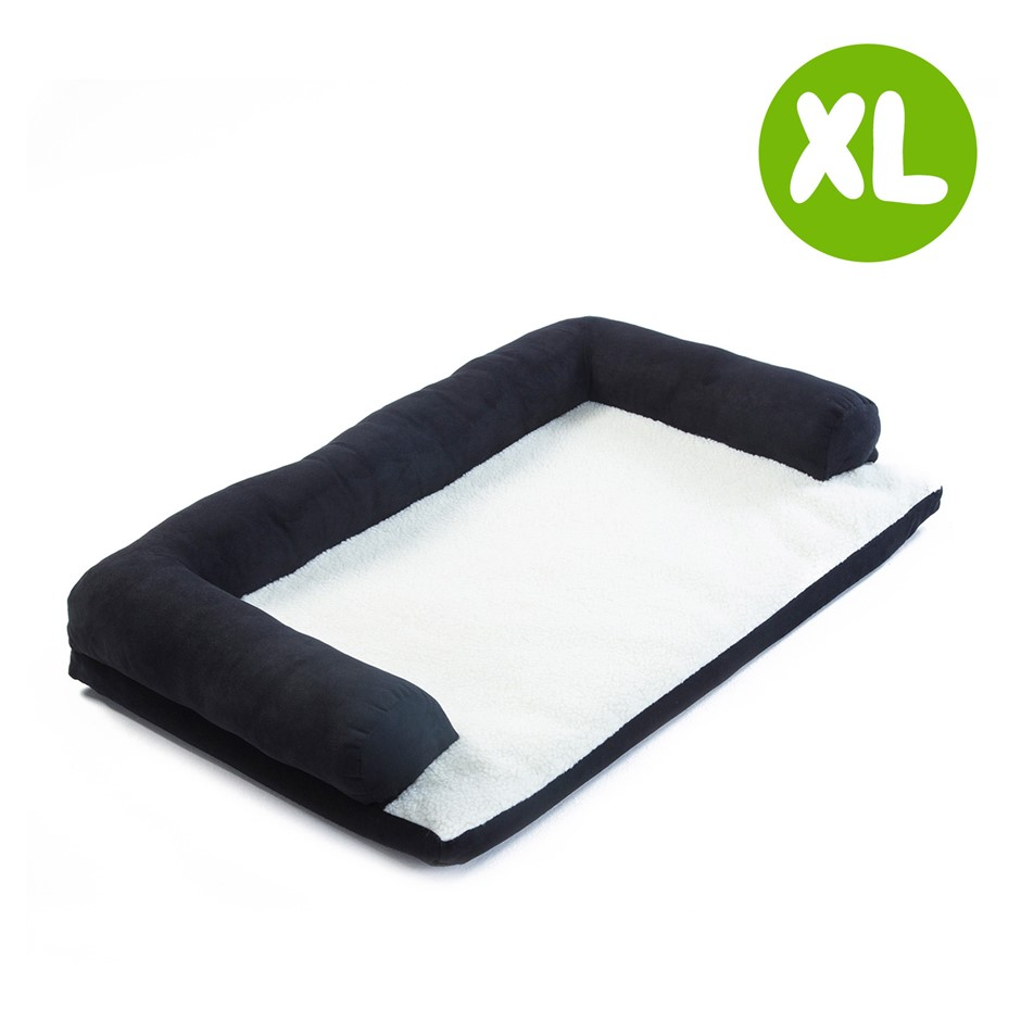 XL 90 x 60 x 15cm Pet Couch TUFTY - BLACK