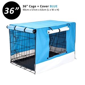 """36"""" Foldable Wire Dog Cage with Tray + B"""