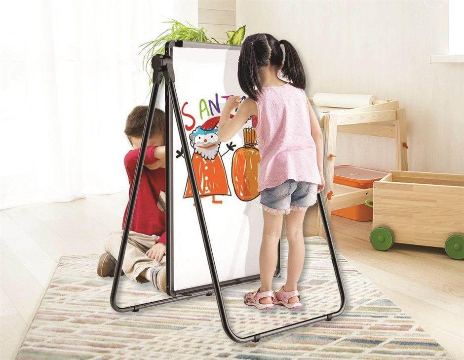 60 x 90cm Magnetic Whiteboard Double-Sided Writing Adjustable Stand