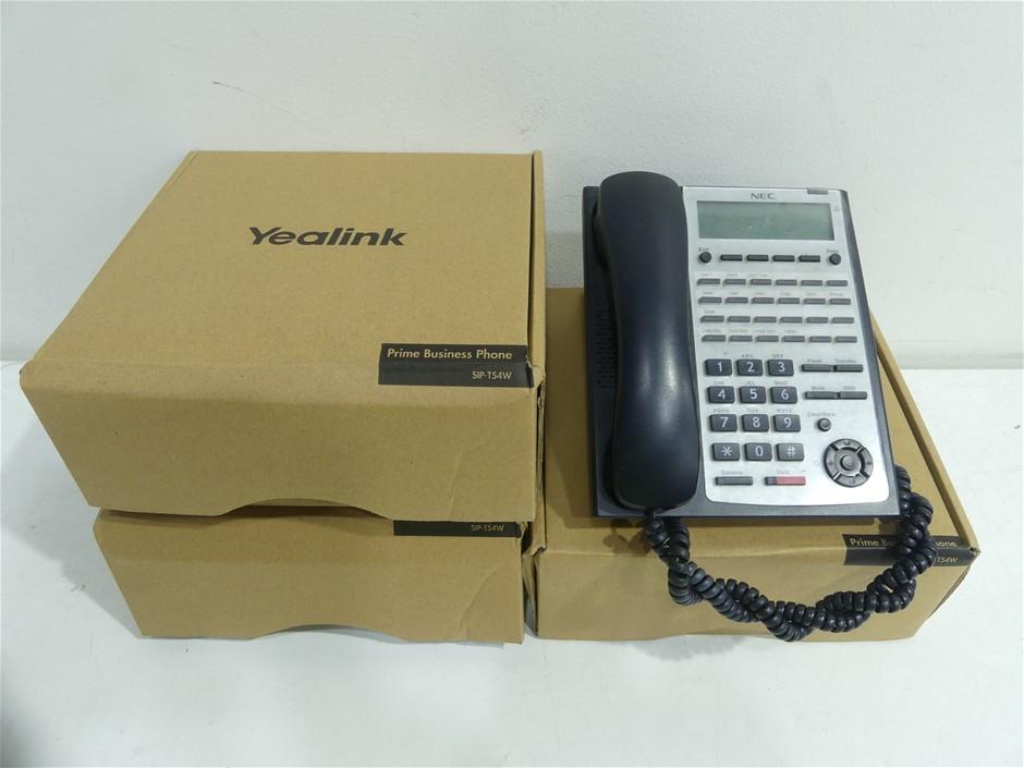 5 x NEC IP4WW-24TXH-B-TEL (BK)