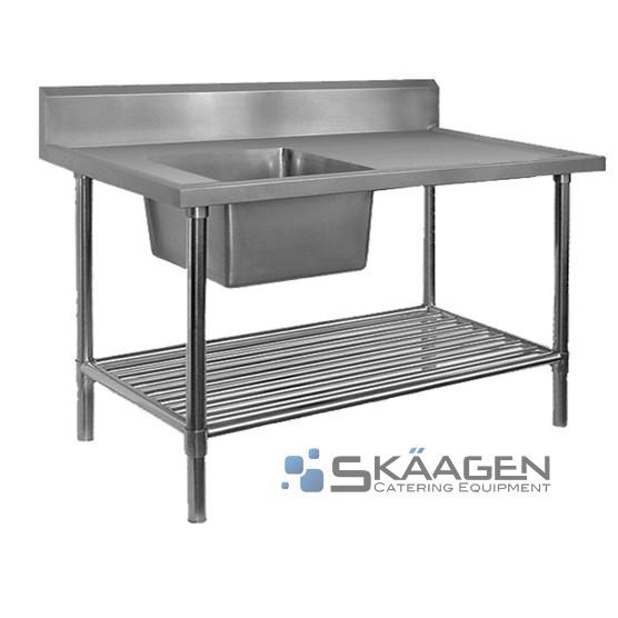 Unused Single Left 1900 x 600 Stainless Steel Sink FSA-1-1900L