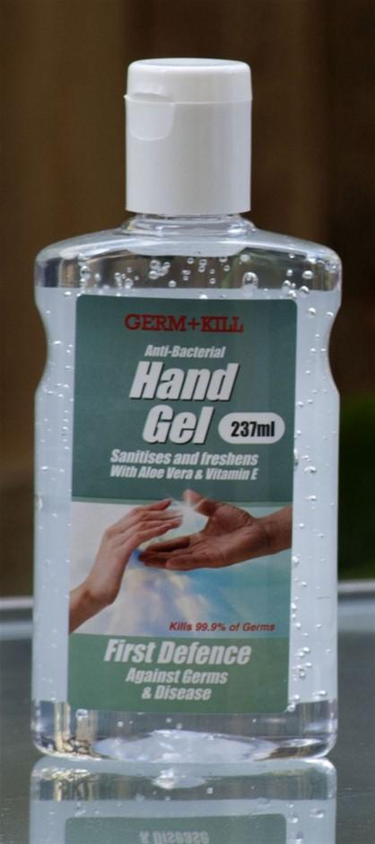 10 x Germ+Kill Anti-Bacterial 237ml 70% Alcohol Aloe Vera Hand Sanitisers