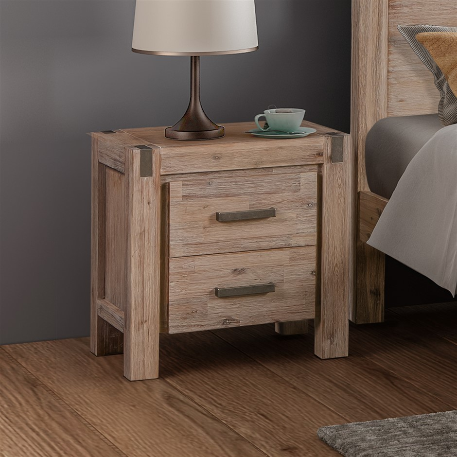 Java bedside table made from Solid and Veneered Acacia Frames