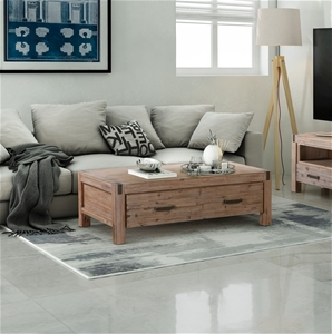 Java Coffee table made from Solid and Ve