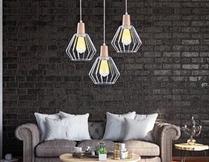 Wood Pendant Light Bar White Lamp Kitche