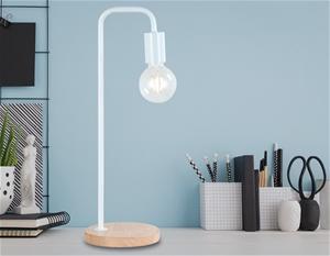 Modern Table lamp Desk Light Timber Base