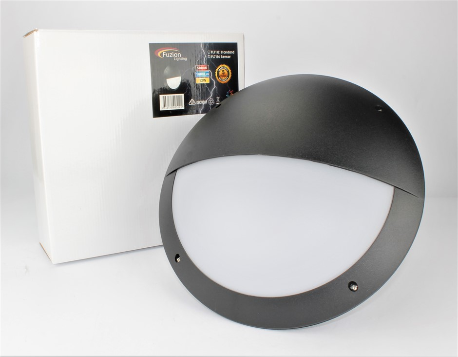 FL7112 - FUZION LIGHTING - LED BULKHEAD ABS EYELID 300 - 12W - 4K
