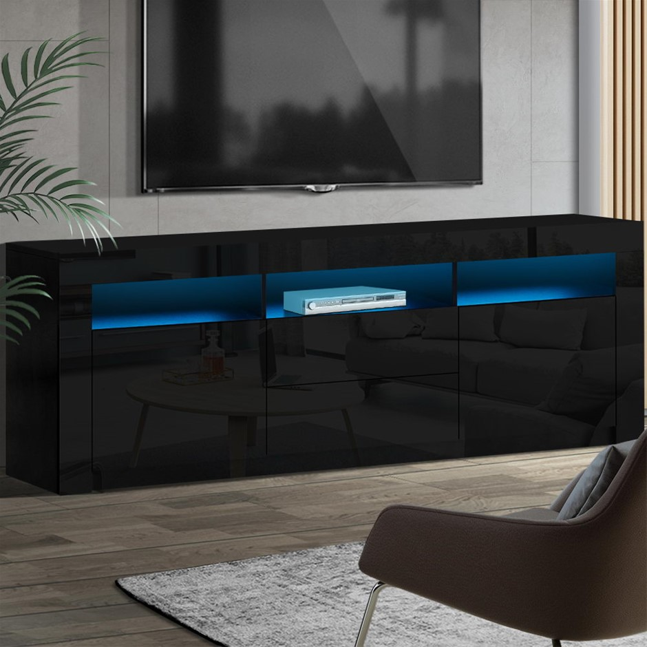 Artiss TV Cabinet Entertainment Unit Stand High Gloss Furniture Shelf